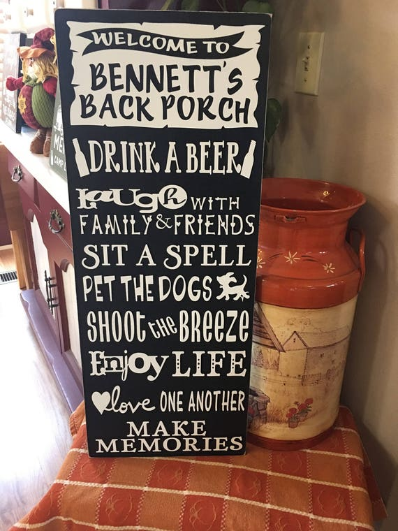 Favorite Patio/Porch Rules Signs - RugzNJones Backyard Signs NC83