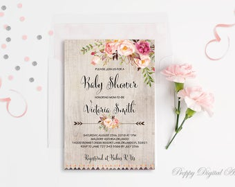 Bohemian baby shower invitation printable burgundy floral baby boho baby shower invitation printable floral baby shower invite bohemian baby shower spring baby shower peony filmwisefo Images