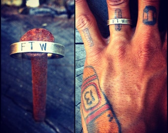 "Sterling Silver ""FTW"" Ring"