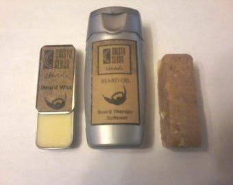 Beard Care Kit -Wax-Oil-Soap
