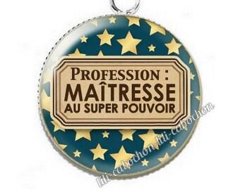 Pendant cabochon resin profession: teacher p54