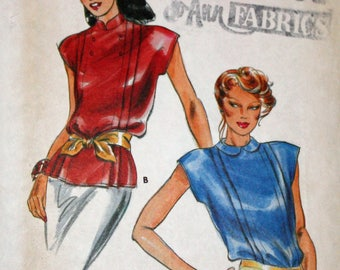 """Vintage, 1980s, Sewing Pattern, Butterick 6921, Pattern, Misses', Blouse, Misses', Top, Size 6, Bust 30 1/2"""", 1980s Pattern, OLD2NEWMEMORIES"""