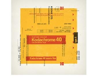 "Kodachrome 40 - 3-color screenprint poster - 26"" x 26"""