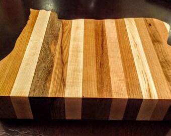 Oregon hardwood cutting board.