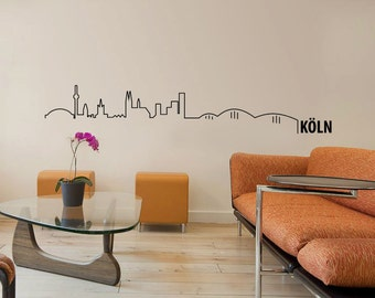 Köln Cologne Skyline Wall Decal Cute Vinyl Sticker Home Arts Europe City Wall Decals Germany WT100