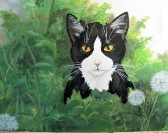 """Handpainted Pet Portraits,  Acrylic painting on 11"""" x 14"""" Stretched canvas"""