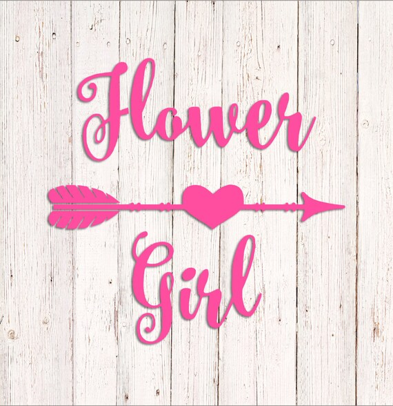 Flower girl decal vinyl sticker wedding decal yeti cup
