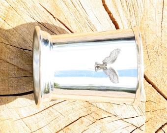 Julep Cup English Pewter Owl KR Emblem Bird Wildlife Gift