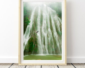 Waterfall green . Photo. Landscapes of Spain. Sun and light. Printable image for download. From Spain with Love