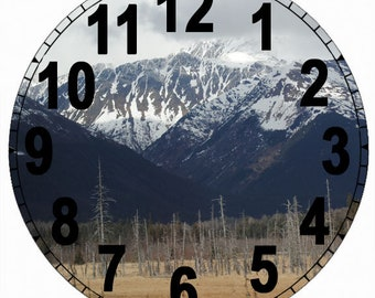 Paper Time Dial - Folk Arabic Font with Mountain