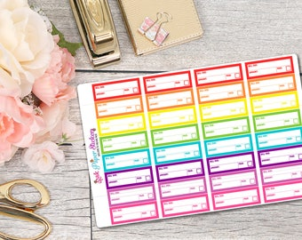 Bill due stickers! - set of 32 stickers for your Erin Condren, plum paper, filofax or other planner!