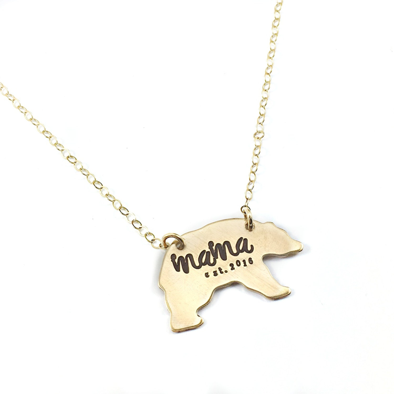 of necklace product img mama and brin image bear bell