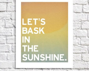 Beach Home Decor Sunshine Quote Sunny Day Art Typographic Print Mudroom Sign Foyer Wall Ideas Sunroom Pictures College Apartment Teen Room
