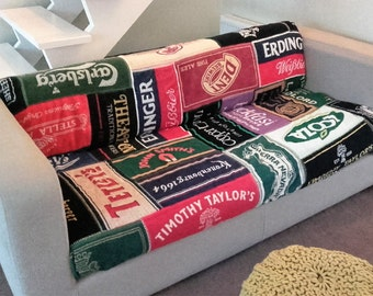 Beer Ale Lager Cotton Towel Blanket Throw Cover Customised to own taste! Bar Pub Man Cave