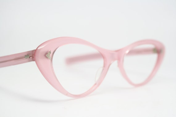 Pink cat eye glasses rhinestone cateye frames