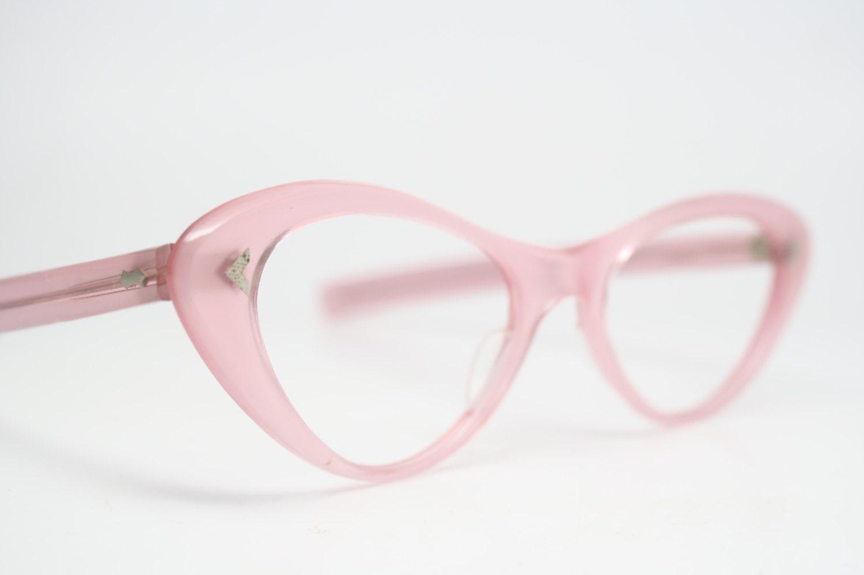 Rosa Katzenauge Gläser Strass Cateye Rahmen