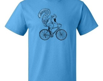 ON SALE - Squirrel Riding Bike - Men's T-shirt