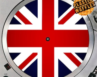 British Flag Union Jack #3 Union Flag 12 inch Slipmat Turntable Vinyl Audiophile DJ DJing 16 oz. x1