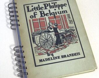 1930 BELGIUM TRAVEL JOURNAL Handmade Journal Vintage Upcycled Book Travel Belgium Journal