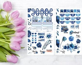 Blue Florals Personal Planner Kit