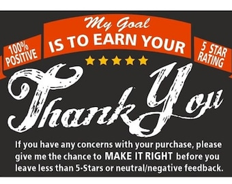 """Thank you for your purchase Labels. 4 Rolls= 1000 Stickers  2"""" x 3"""""""
