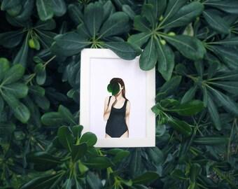 Secret garden - Art, print, drawing, illustration, portrait,...