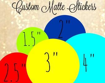Round Labels,Custom matte stickers, custom stickers logo, custom labels, printed labels,logo stickers,round stickers,circle stickers,labelin