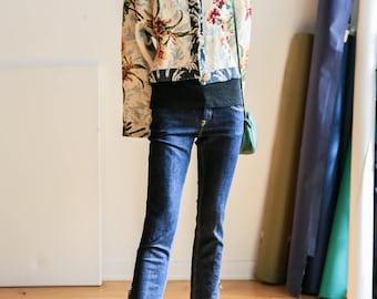 Floral Tapestry Jacket | Tapestry Jacket | Cropped  Floral Jacket | Boho Jacket | Festival Jacket | Couch Print Jacket | Spring Jacket |