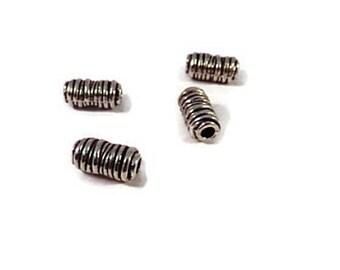 set of 10 columns 11 x 6 mm Tibetan silver beads