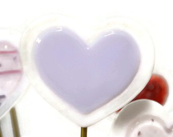 Heart Plant Stake, Garden Stake, Fused Glass, Valentine's Day, I love you, Lavender