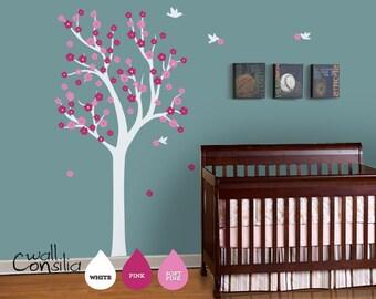 "Nursery Tree Wall Decal Wall Sticker - Tree Wall Decal - Tree Decals - Large: approx 75"" x 38"" - W030"