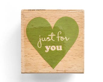 Just for you - Rubber Stamp - Handmade Gift, Greeting Cards, Etsy Shop, Logo, Branding, Packaging, Invitations, Party, Favors, Wedding Gifts