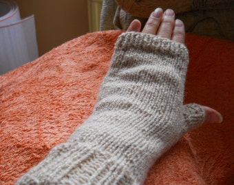 Pure Alpaca fingerless gloves