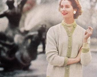 Vintage Knitting Patterns 1950s Knitting Book Fashion Knits by P & B 2nd Edition UK women's sweaters cardigans dresses 50s original patterns