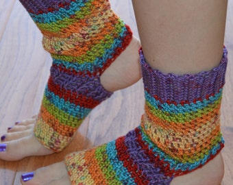 Gem Toned Crocheted Yoga/Pilates/Dance/Pedicure/Flip Flop Socks (AVERAGE SIZE) Made To Order