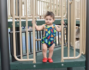 Boys Dino Baby Romper, Girls Romper, Gender Neutral, Cake Smash Outfit, Toddler Romper, Baby Rompers, Summer Romper, Newborn Romper