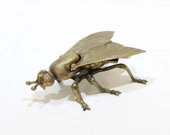 Vintage Metal House Fly Ashtray, Made in Italy, Vintage Tobacciana, Collectible Ashtray