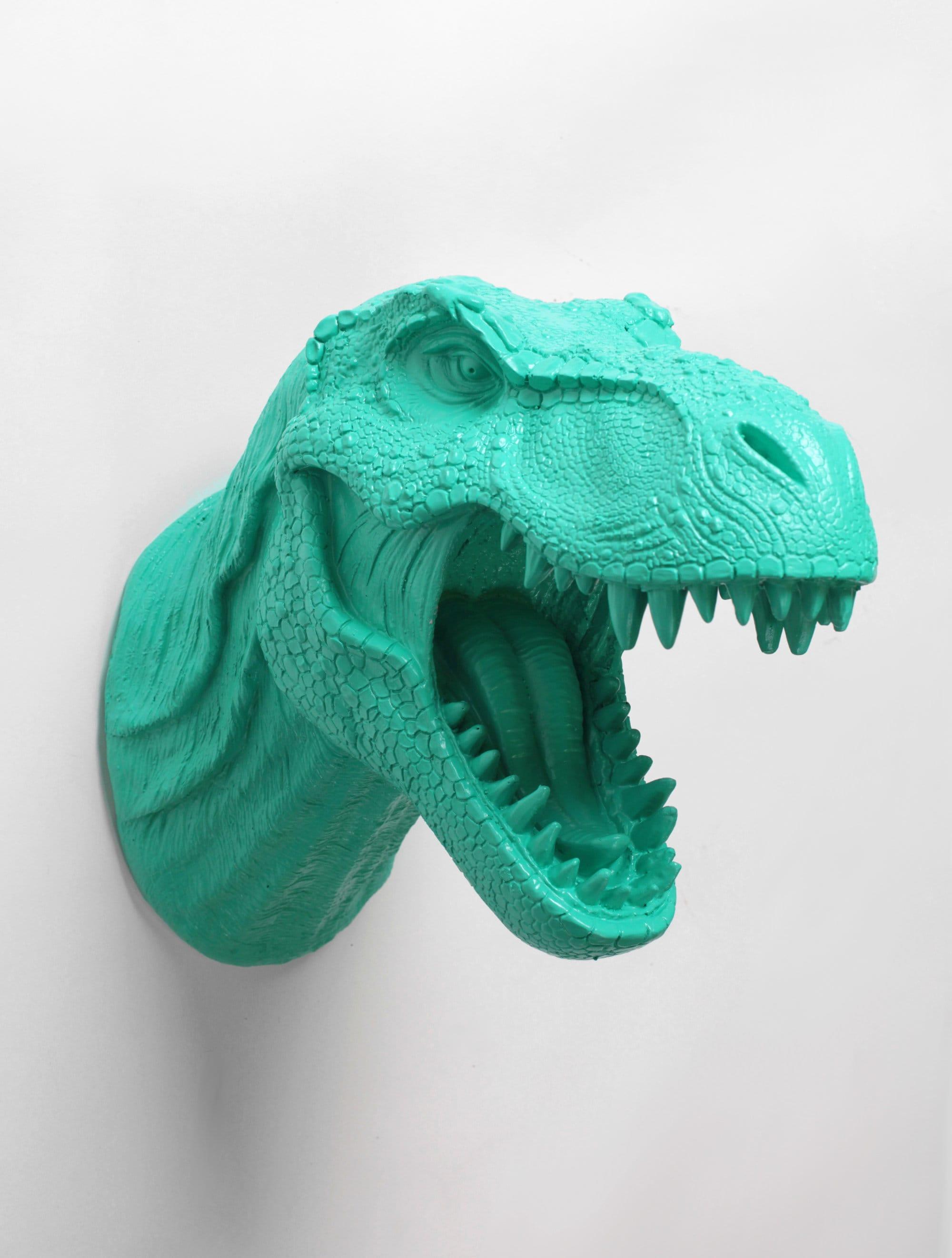 Montaje de la pared de cabeza de dinosaurio decoración de la