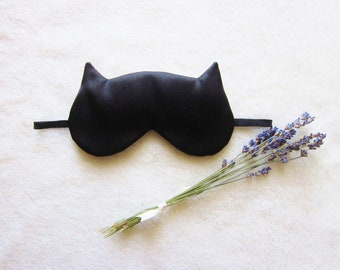 French Lavender Aromatherapy Cat Eye Mask