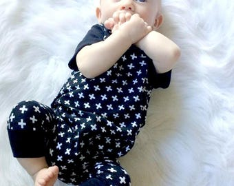 Monochrome baby romper, baby romper, baby, romper, summer baby cloths, monochrome clothes, 3-6 month clothes, modern baby clothes