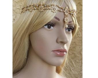 Head Chain Head Jewelry Headband Headwear Wedding Jewelry Bridal Jewelry Bridal Jewelry Bridal Crown Hair Accessories Vintage Bohemian