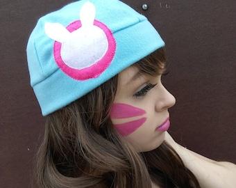 D.va overwatch inspired beanie/fleece hat video games