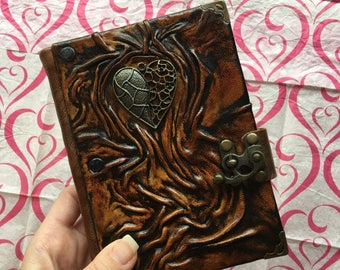 Leather Journal, Valentine's Journal, Leather Notebook, Steampunk Journal, Travel Journal, School Journal, Leather Diary, Gift Idea