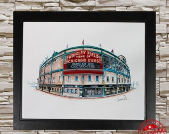 Wrigley field chicago cubs decor