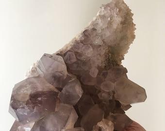 Giant Raw Amethyst Point ClusterGemstone