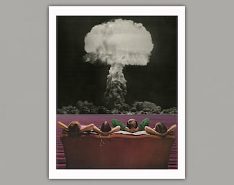 The Atomic Age - Surreal Collage Art Print, retro, 8x10 print, 11x14 print, 12x16 print, vintage art, art print