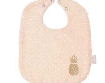 Organic cotton - pineapple bib