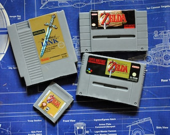 Ultimate Zelda Soap Pack - NES Cart Soap, SNES pal & ntsc Cart Soaps, Gameboy Cart Soap - Zelda Cart Soap Pack - Retro and geeky!
