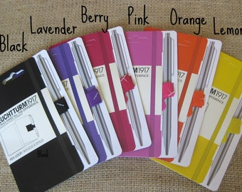 Colored Pen Loop (Warm Shades), Self-Adhesive Pen/Pencil Holder Attaches to Journal, Notebook, Binder or Book