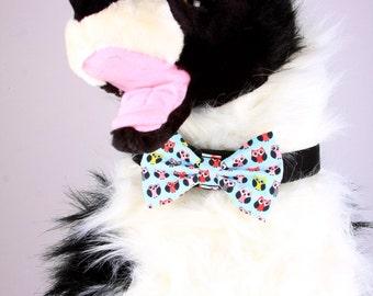 Bow Tie, Dog Bow Tie, Pet Neckwear, Dog Accessories, AnnabelsAccessories, Pet Accessories, Pet Neck Tie, Dog Clothing, Owls on Blue